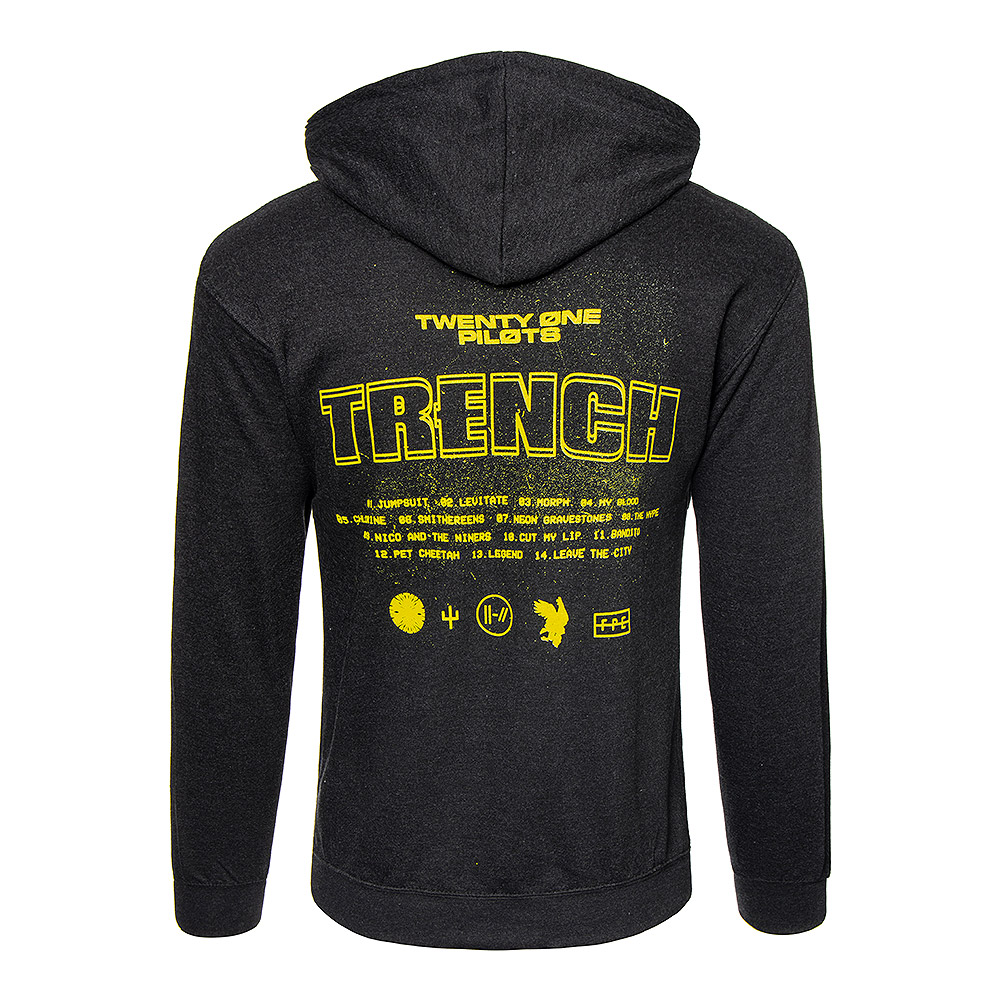 Official Twenty One Pilots Title Trench Hoodie (Black)