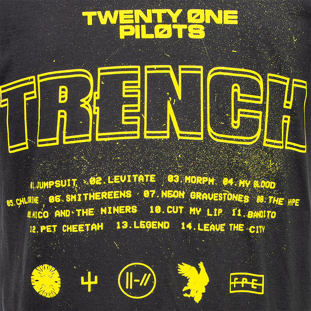 Official Twenty One Pilots Trench Title T Shirt (Noir)