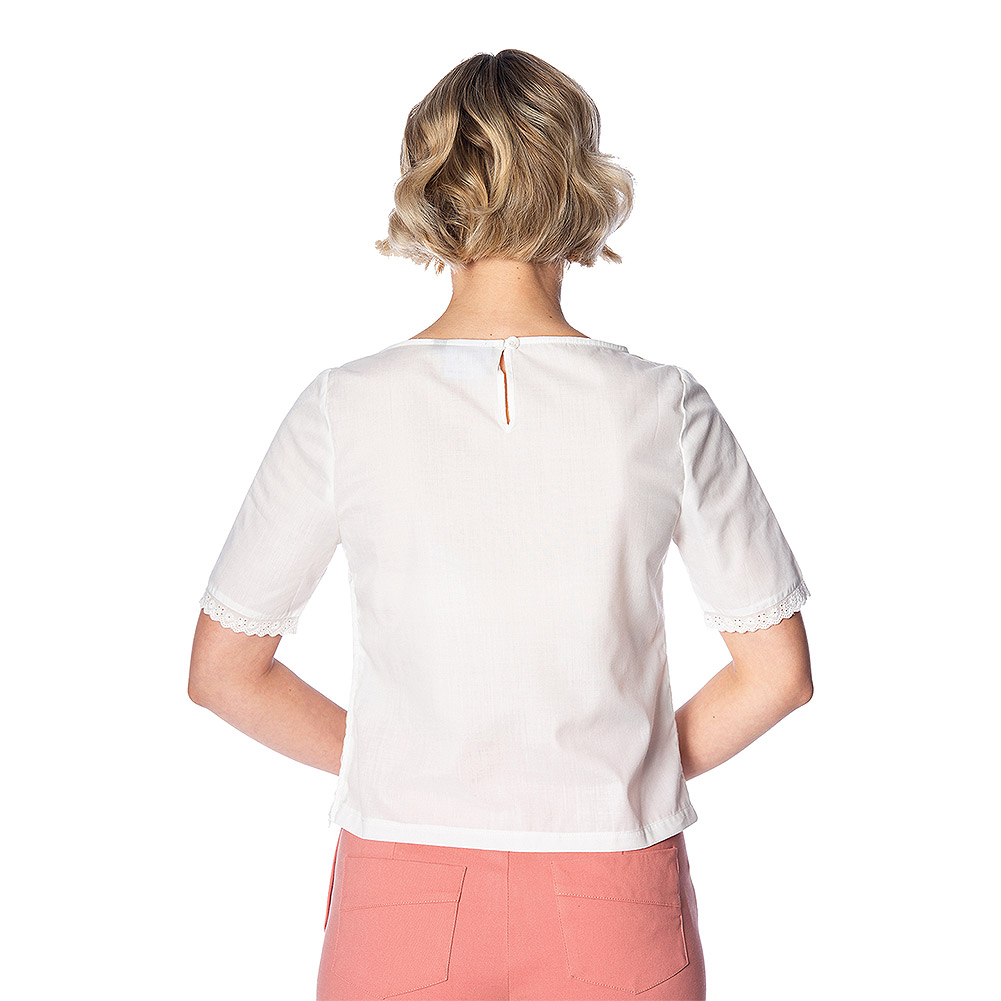 Banned Cute For Days Top (White)