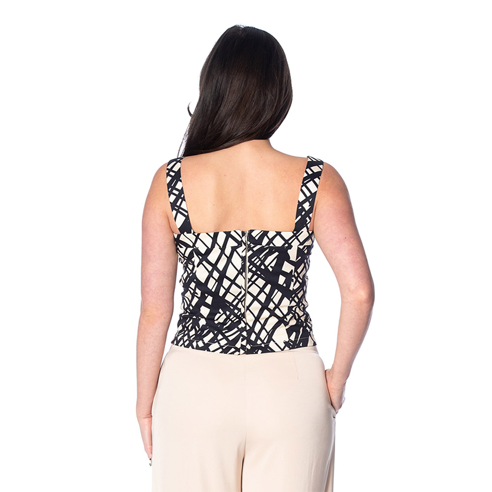 Banned Handsketch Top (Black/Cream)