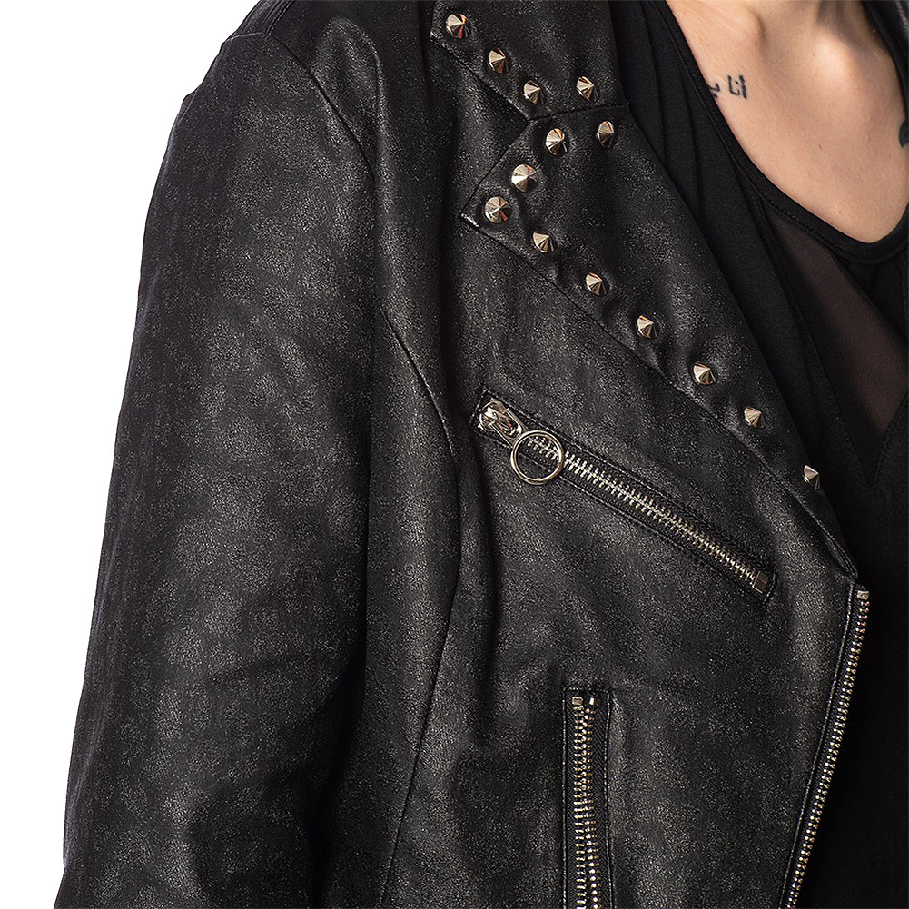 Banned Glam Goth Studs Jacket (Black)