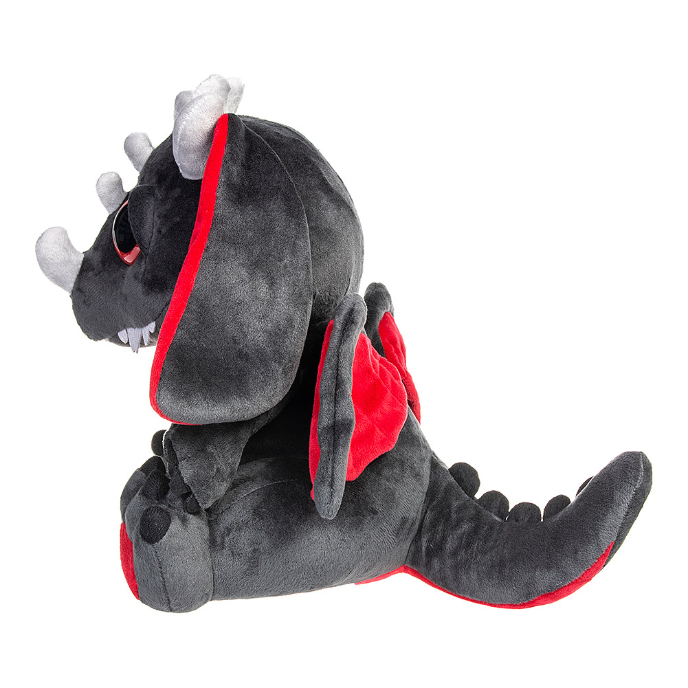 Spiral Direct Peluche Kawaii Baby Dragon - Negro / Rojo