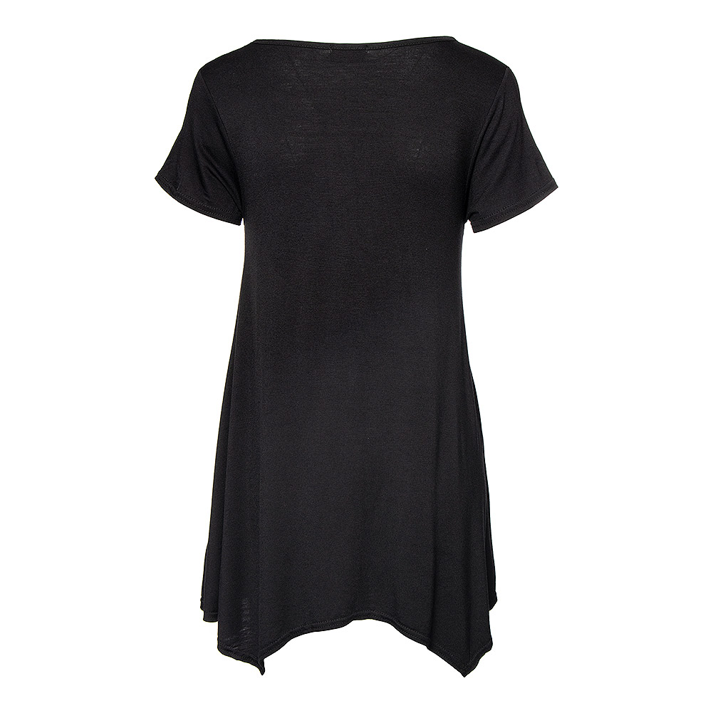 Spiral Direct Wolf Roses Smock Top (Black)