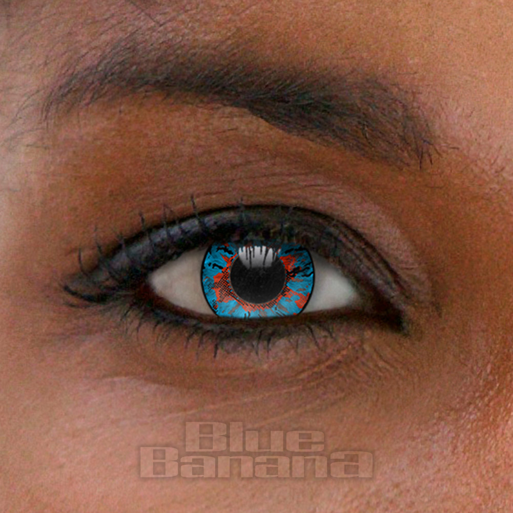 Crystal 30 Day Coloured Contact Lenses (Blue)