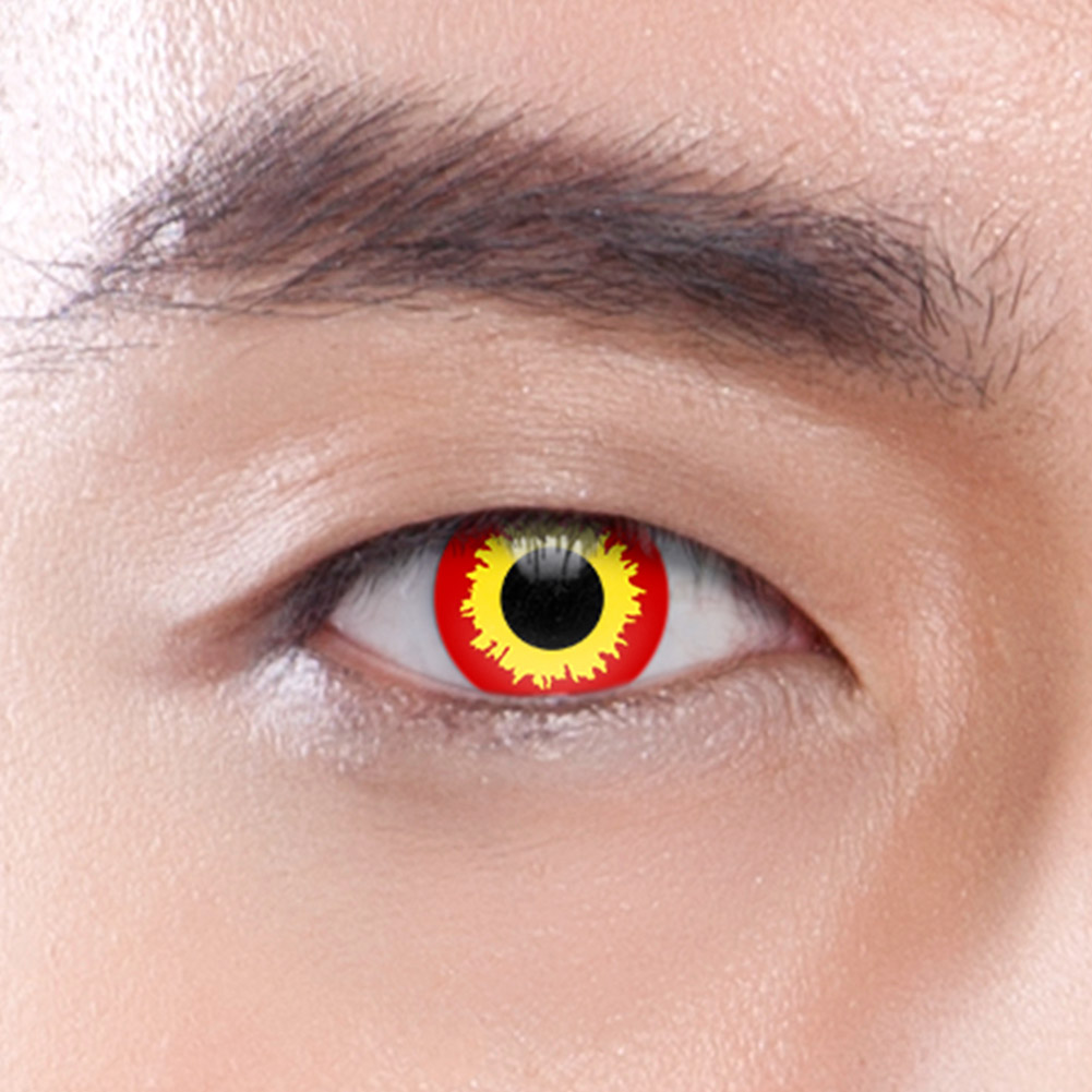 Wild Fire 30 Day Coloured Contact Lenses (Red)