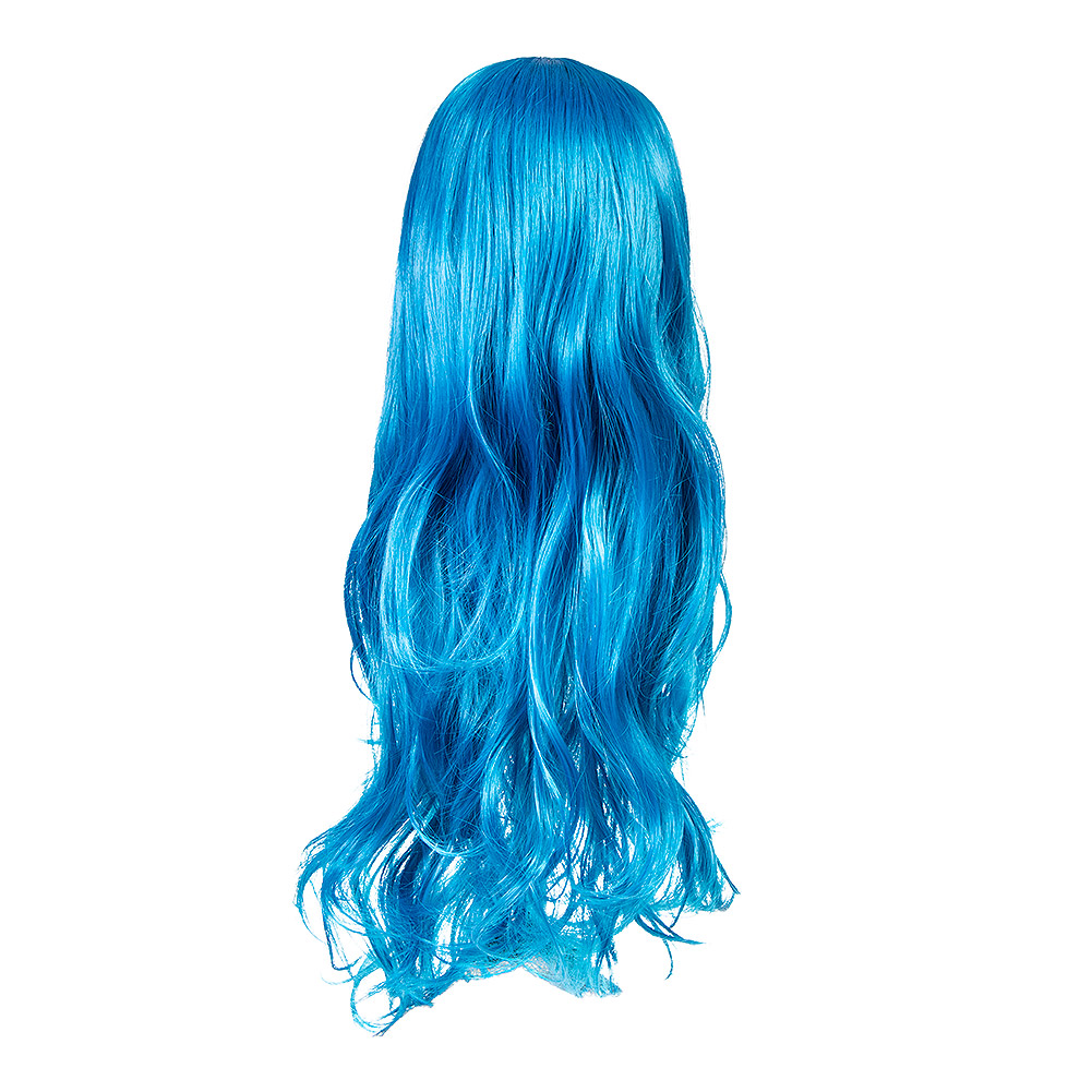 Blue Banana Bright Coloured Long Wig (Blue)