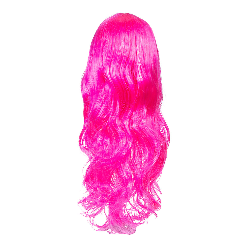 Blue Banana Bright Coloured Long Wig (Hot Pink)