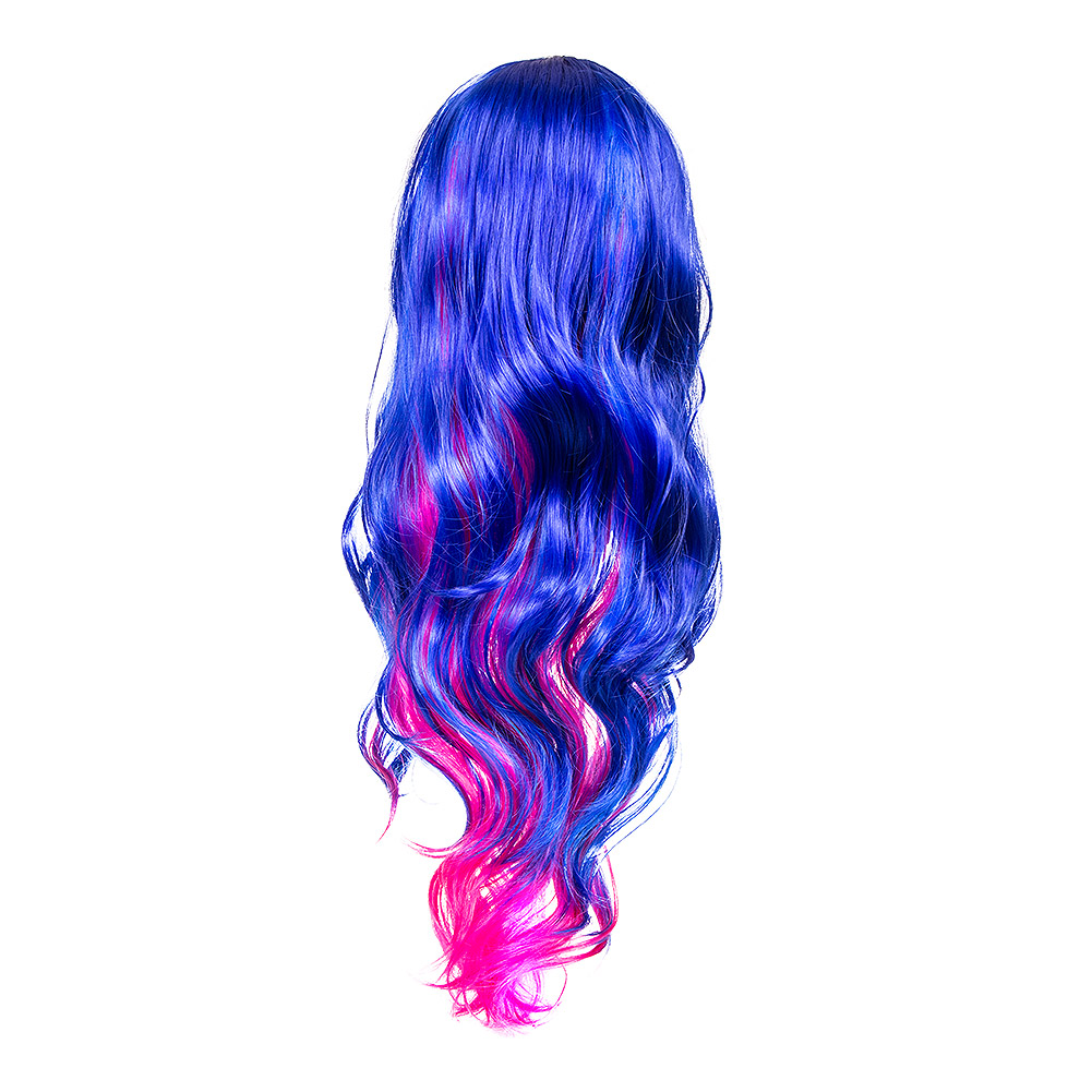 Blue Banana Bright Coloured Long Wig (Pink/Blue)