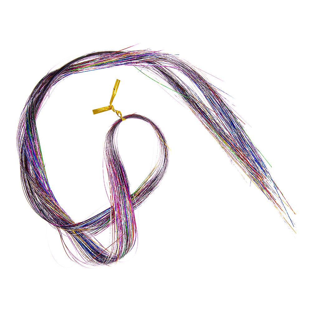 Blue Banana Glitter Sparkle Hair Extension (Silver Rainbow)