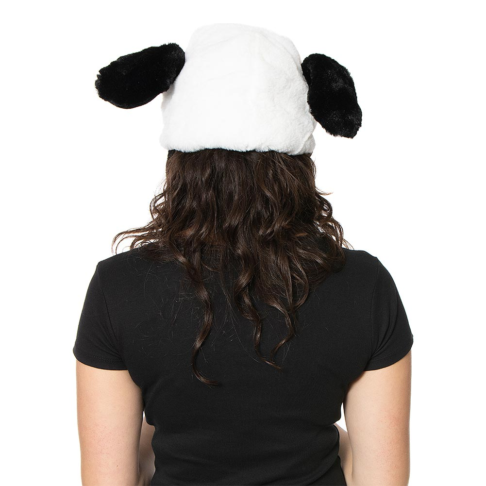 Blue Banana Moving Ears Panda Hat (Black/White)