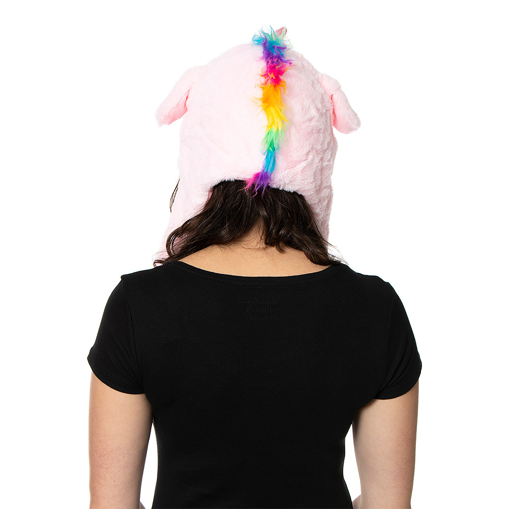 Blue Banana Moving Ears Unicorn Hat (Baby Pink)