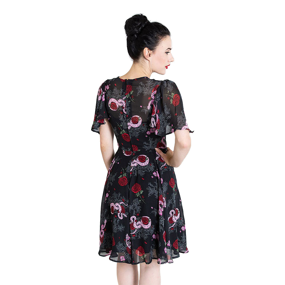 Hell Bunny Medusa Dress (Black)