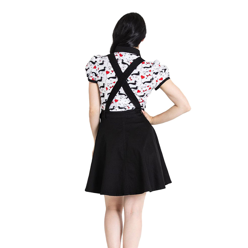 Hell Bunny Dakota Pinafore Dress (Black)