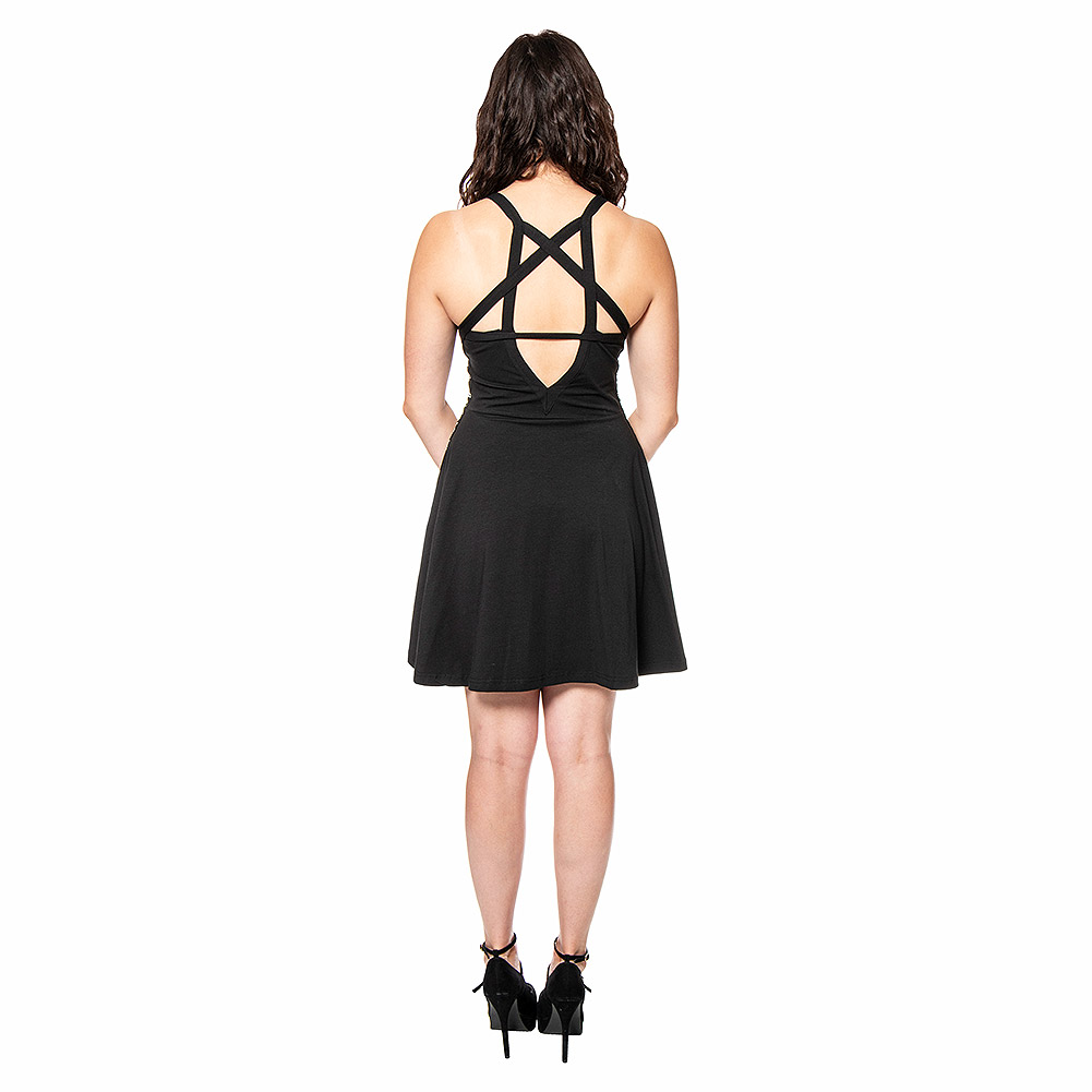 Heartless Pentacraft Dress (Black)