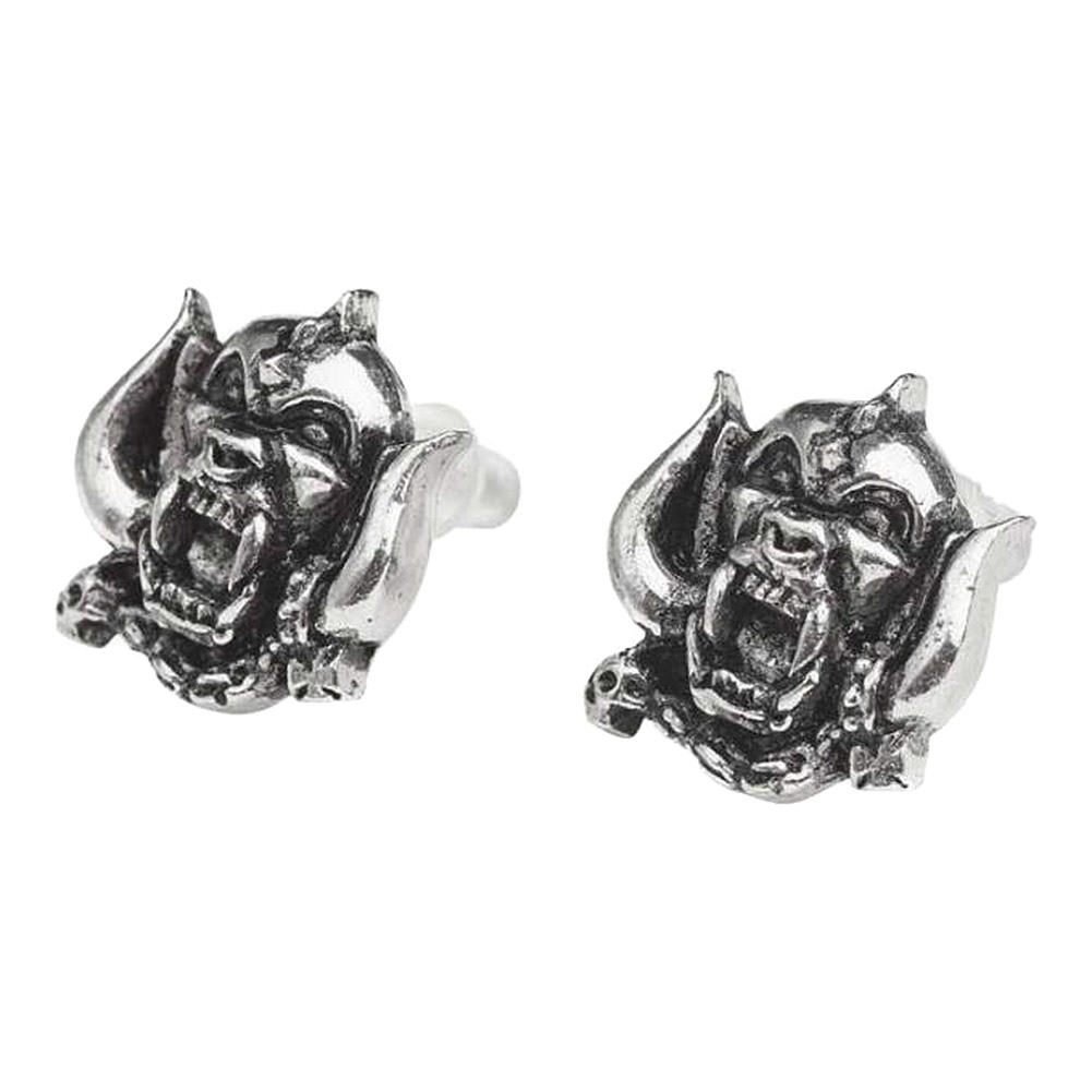 Alchemy Rocks Motorhead Warpig Stud Earrings (Pewter)