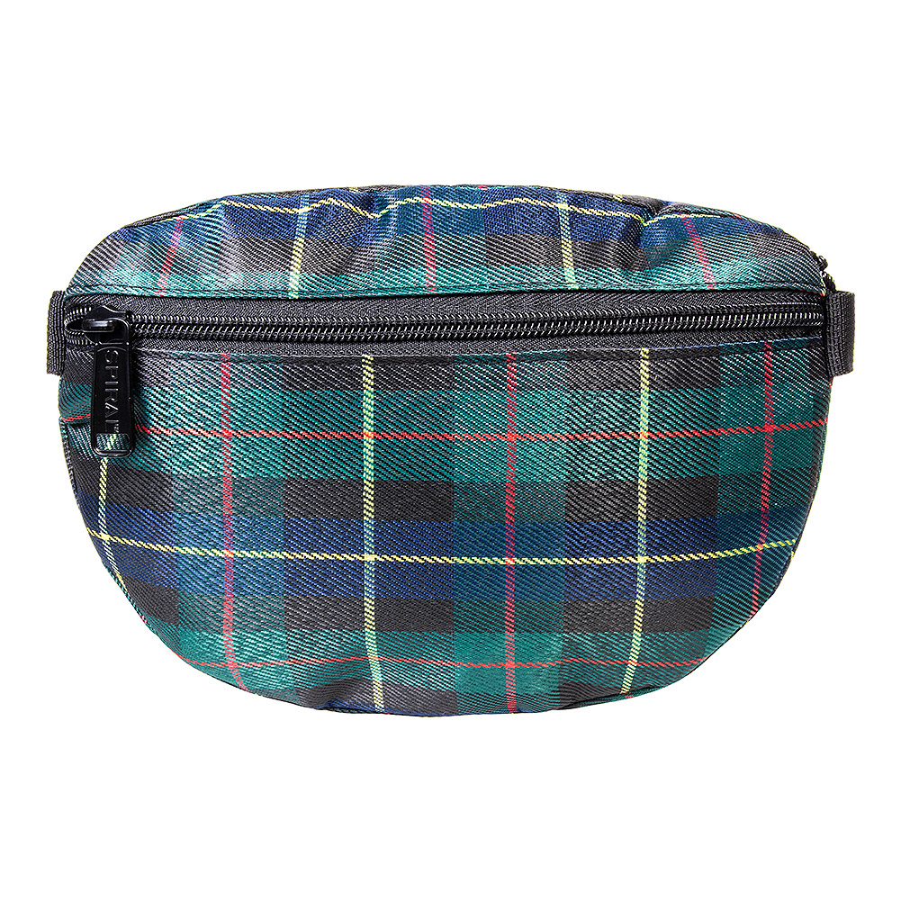 Spiral Plaid Bum Bag (Green)