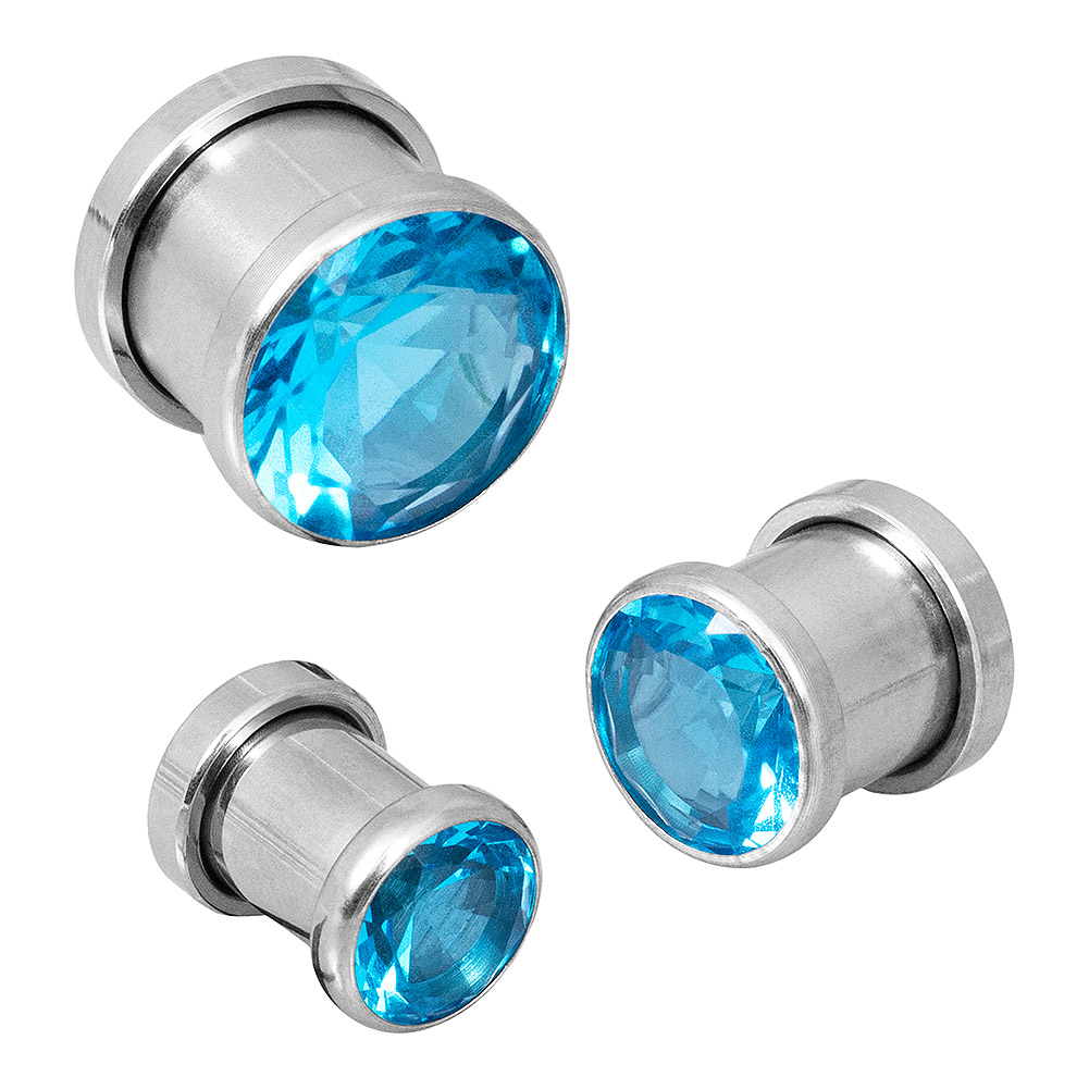 Blue Banana Steel Gem Plug (Aqua)