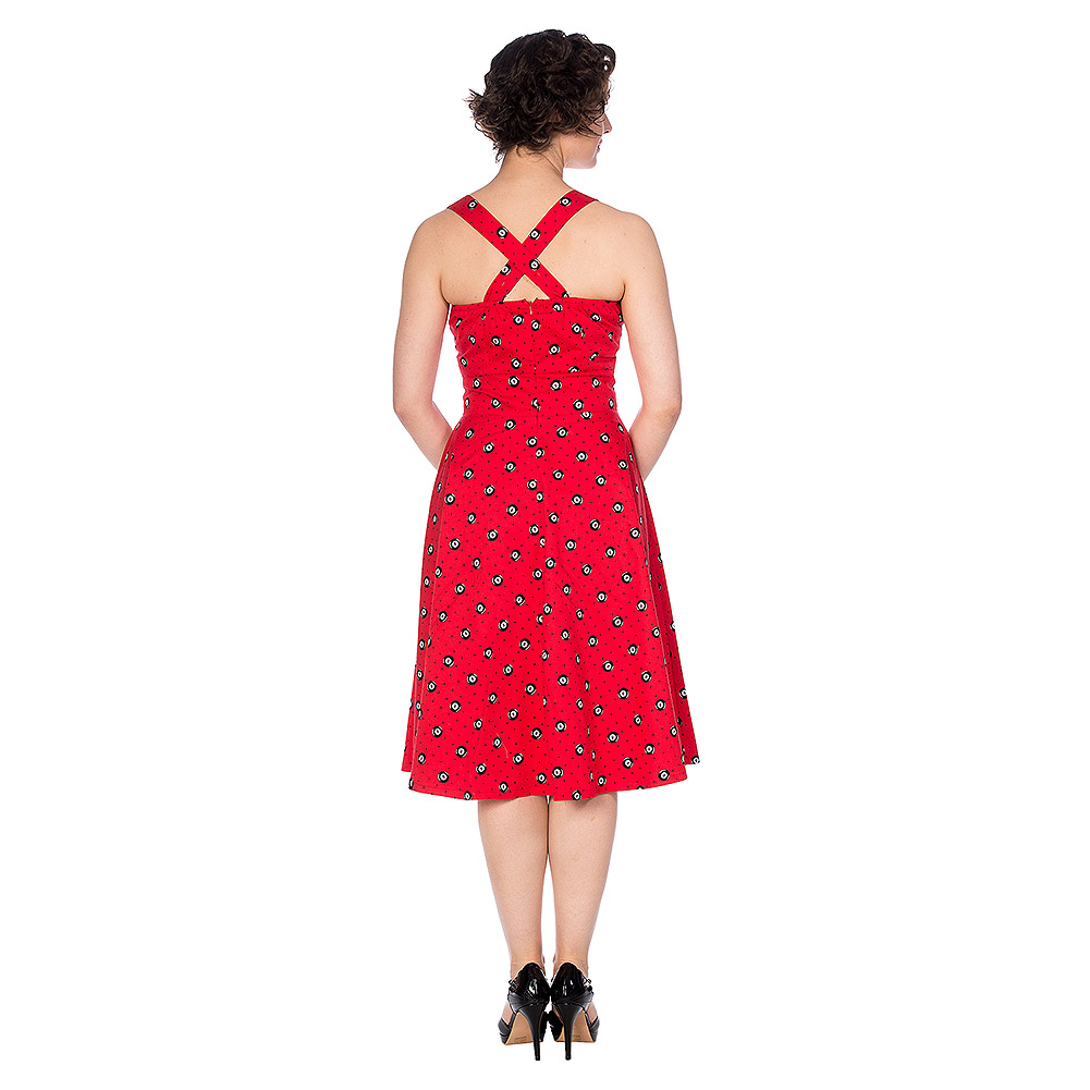 Banned Retro The Future Halterneck Dress (Red)