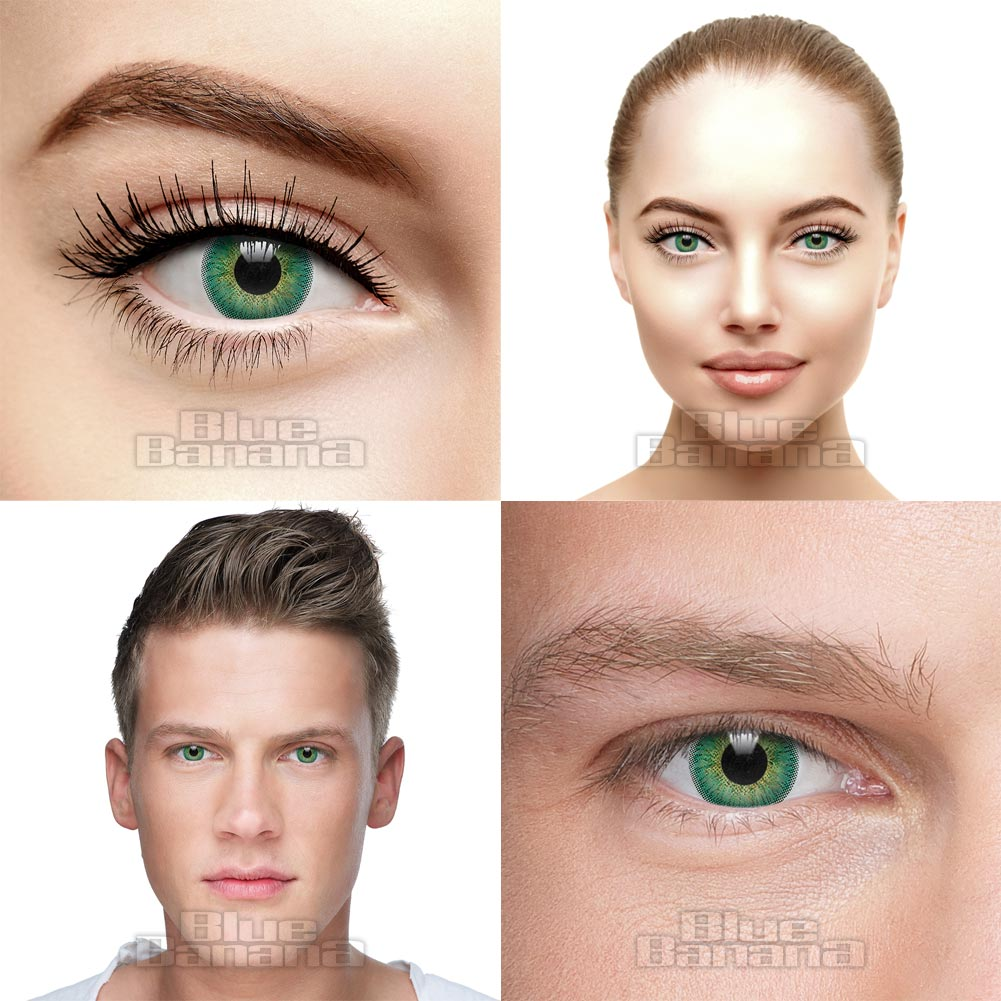 Natural Blend 30 Day Coloured Prescription Contact Lenses (Emerald)