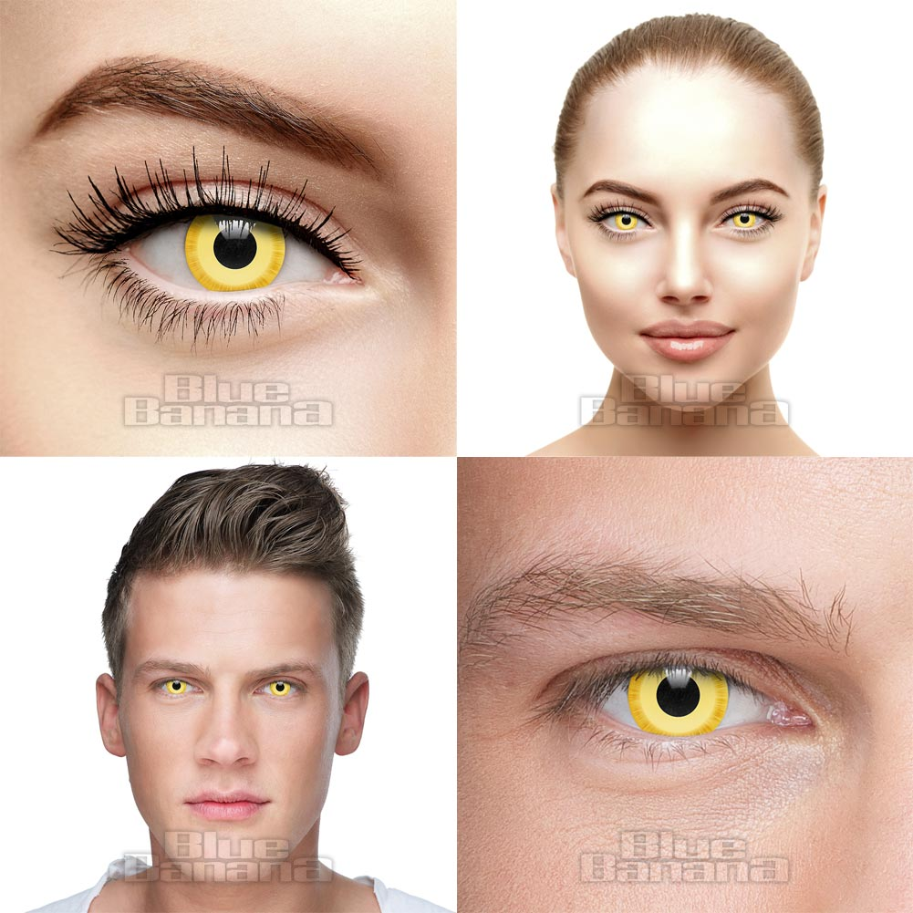 Avatar Coloured 30 Day Prescription Contact Lenses (Yellow)