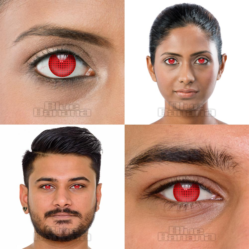 Mesh 1 Day Coloured Contact Lenses (Red)