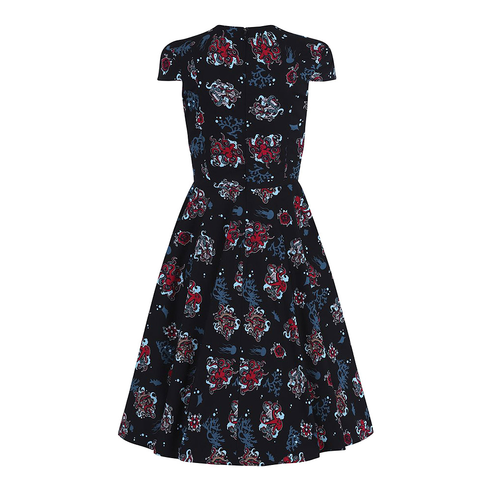 Hell Bunny Poseidon 50s Dress (Black)
