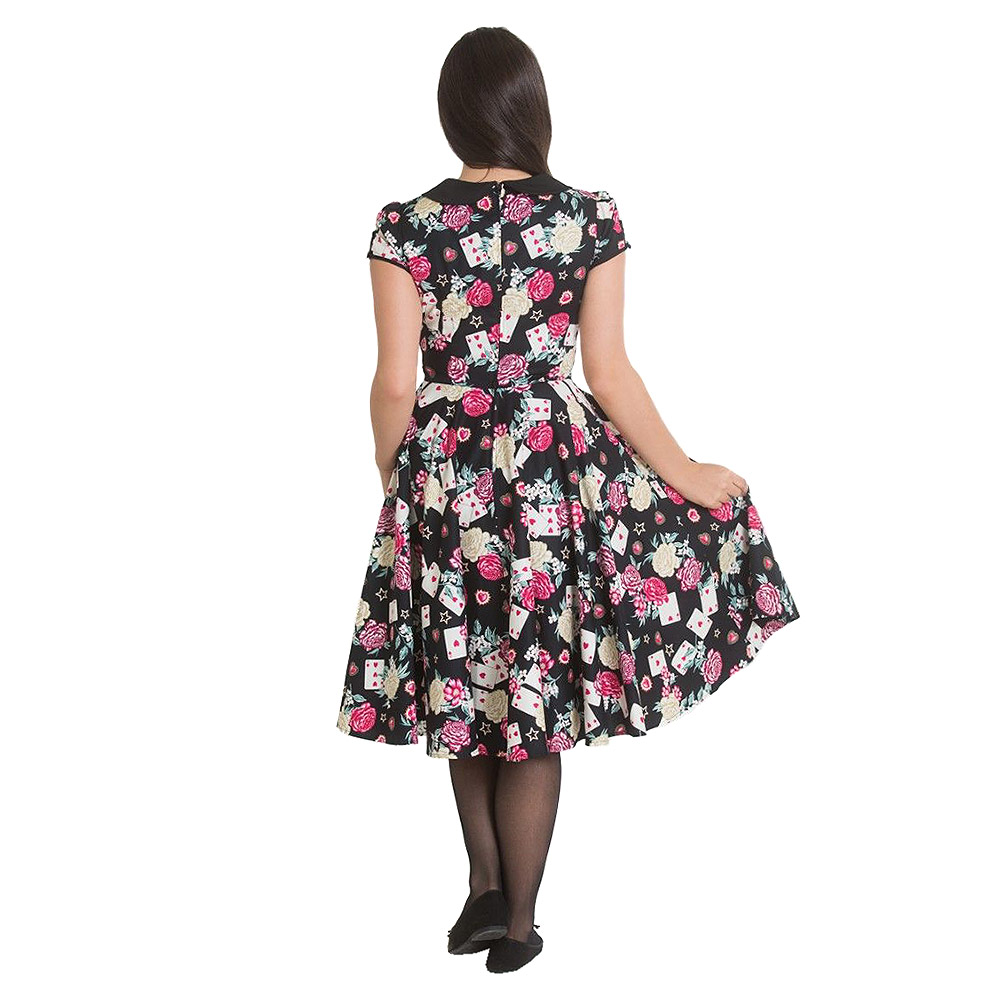 Hell Bunny Queen Of Hearts 50s Dress (Multicoloured)