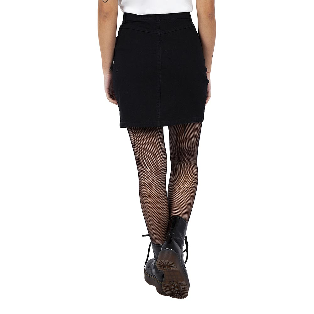 Jawbreaker Glam Rock Velvet Mini Skirt (Black)