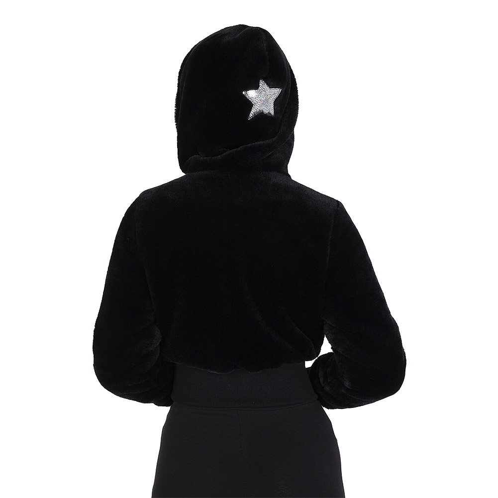 Jawbreaker Star Struck Faux Fur Jacket (Black)