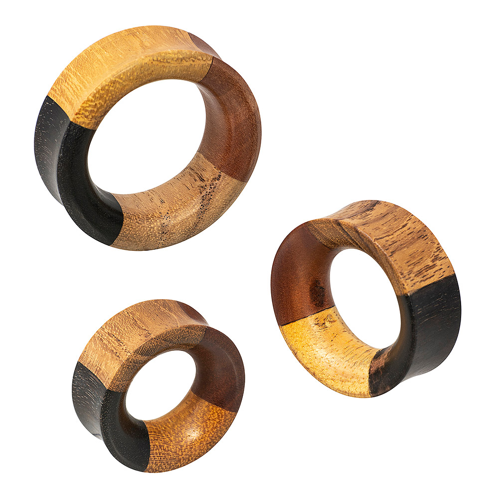 Blue Banana 4 Quarter Wood Flesh Tunnel 42 - 52mm (Brown)