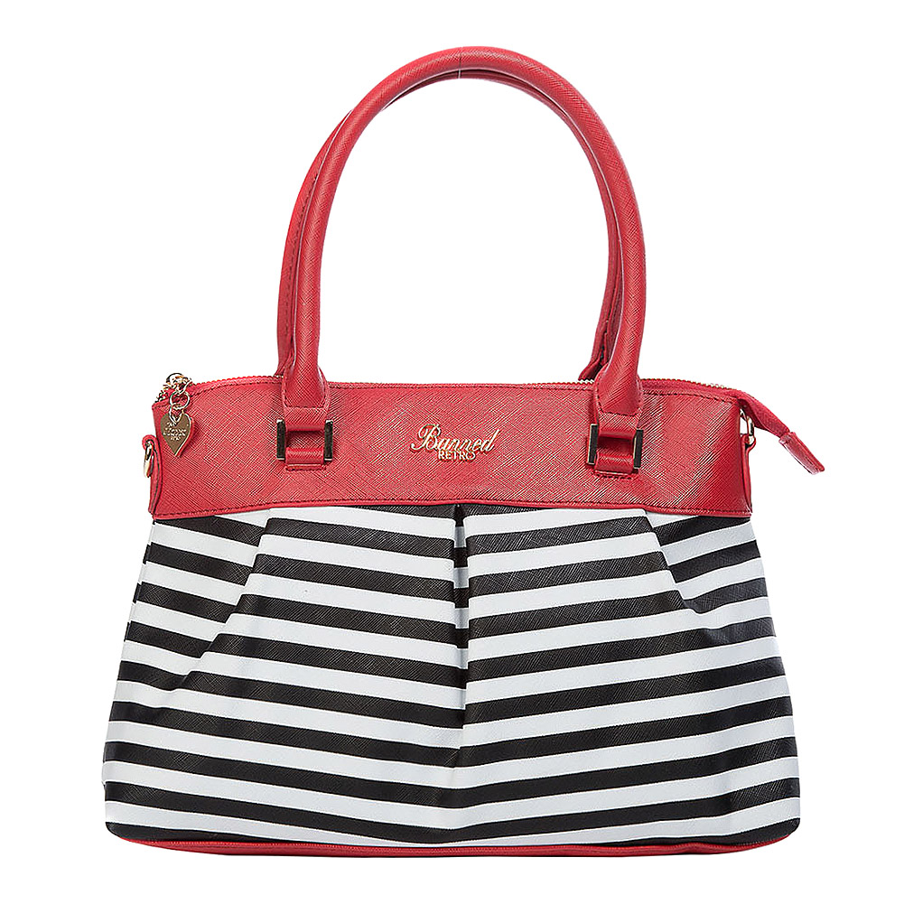 Banned Nautical Living Bay Stripe Bag (Red)