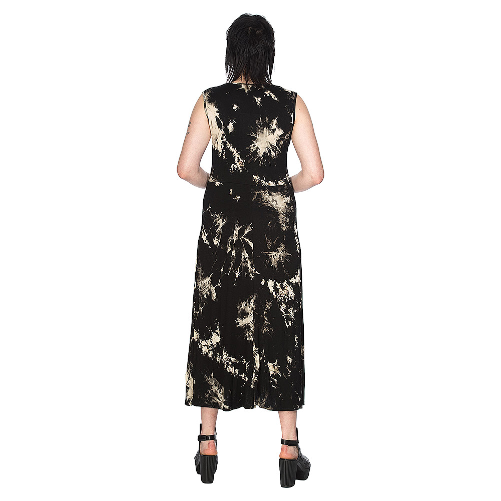 Banned Throw On Tie Dye Dress (Black)