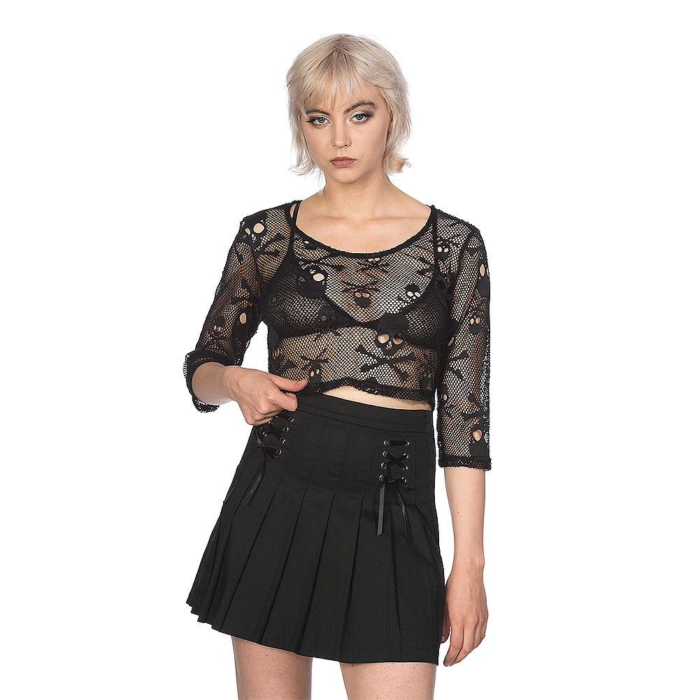 Banned Skull Crop Top (Black)