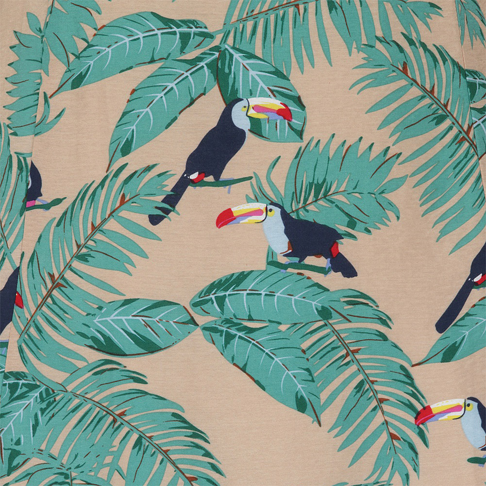 Banned All Over Toucan Dress (Coffee)