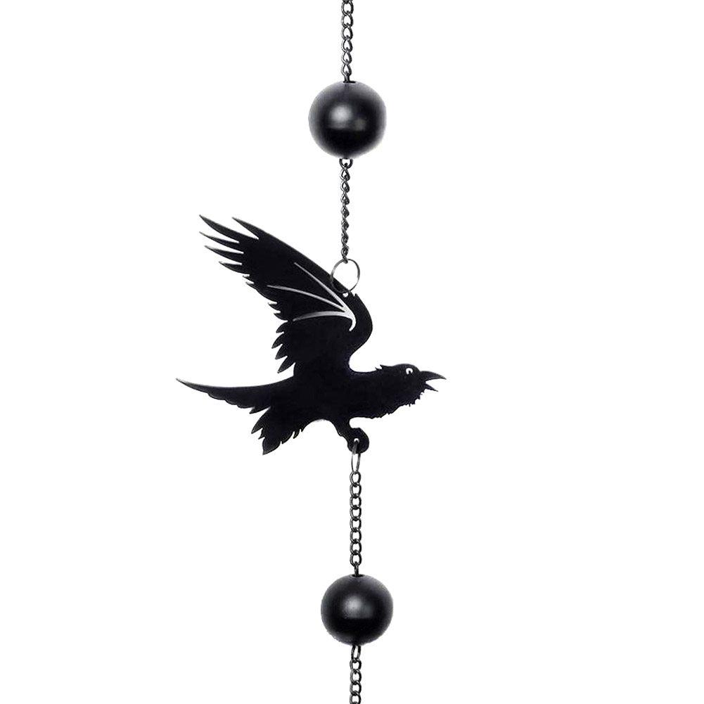 Alchemy Gothic Raven Hanging Decoration (Black)