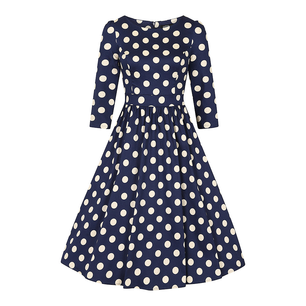 H&R Polka Dot Dress (Navy/White)