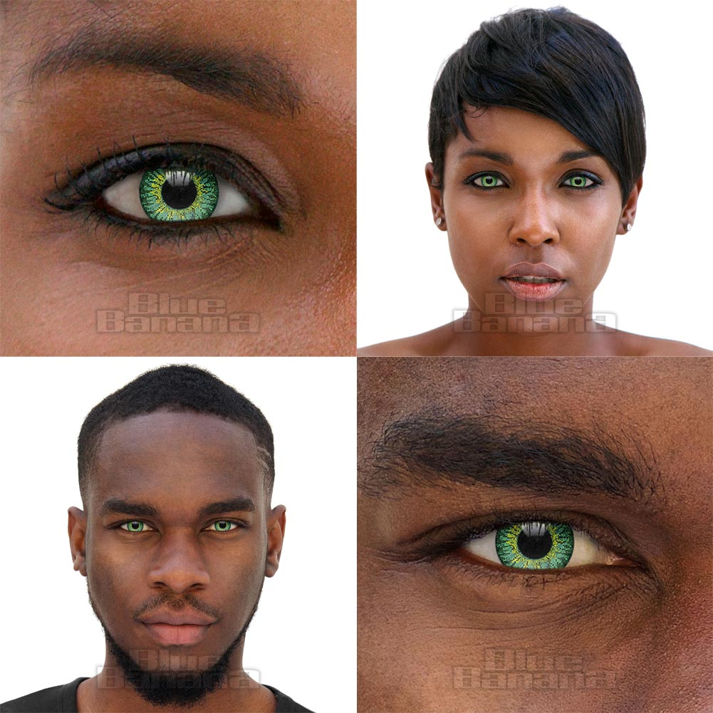 Fusion Tri Tone 30 Day Coloured Contact Lenses (Green)