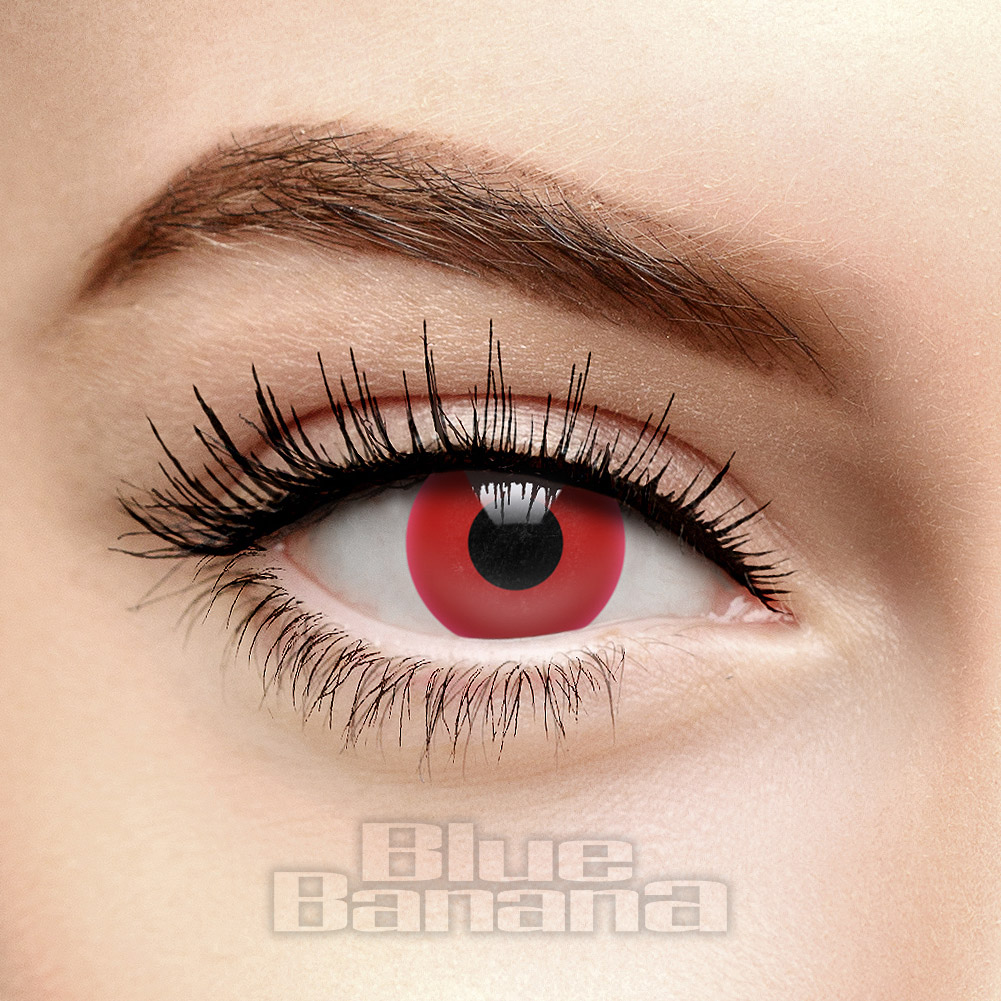 UV i-Glow 1 Day Coloured Contact Lenses (Red)
