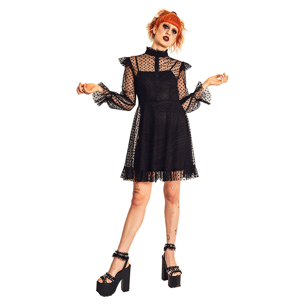 Jawbreaker Don't Mesh With My Heart Dress (Black)