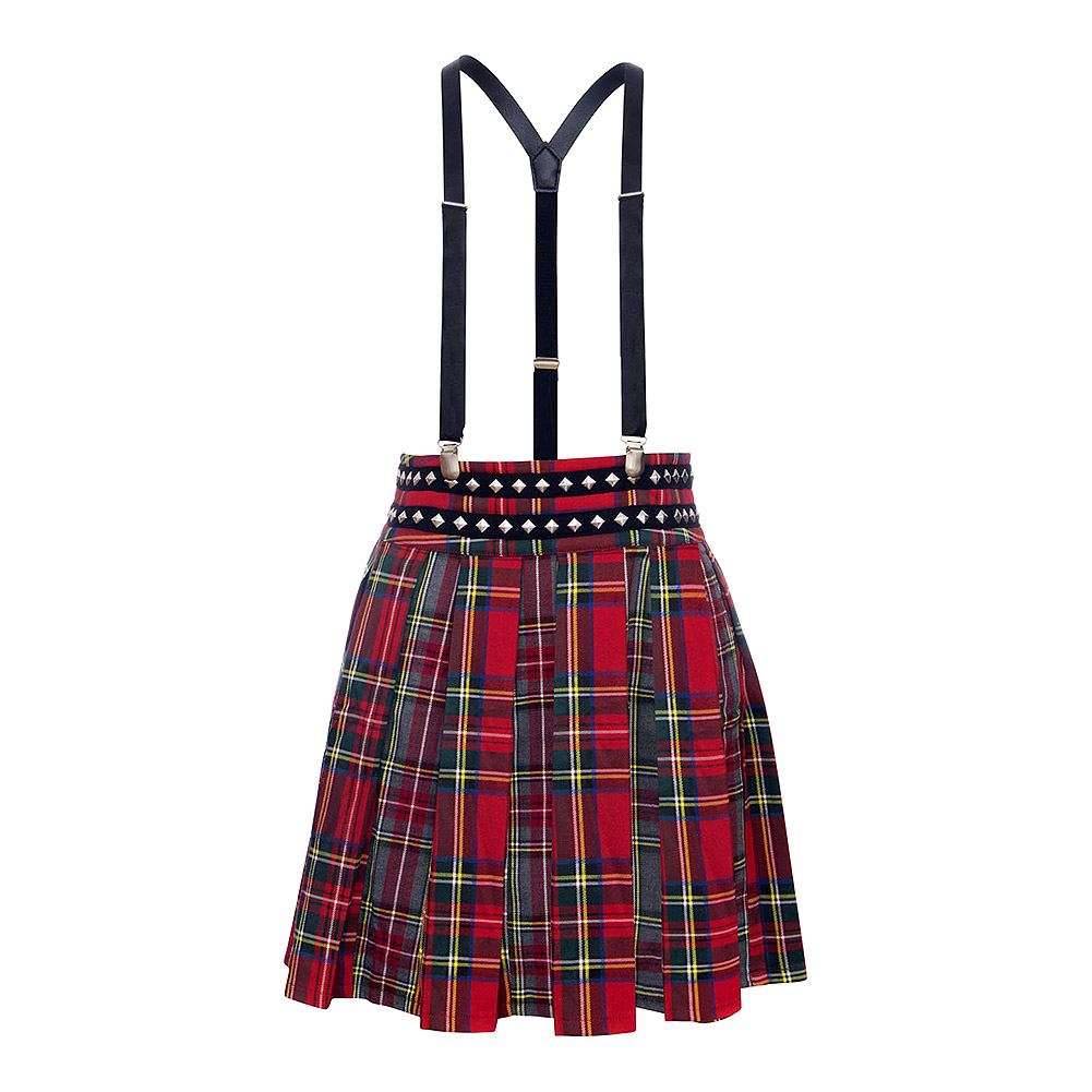 Jawbreaker Pretty Vacant Punk Plaid Skirt (Multicoloured)