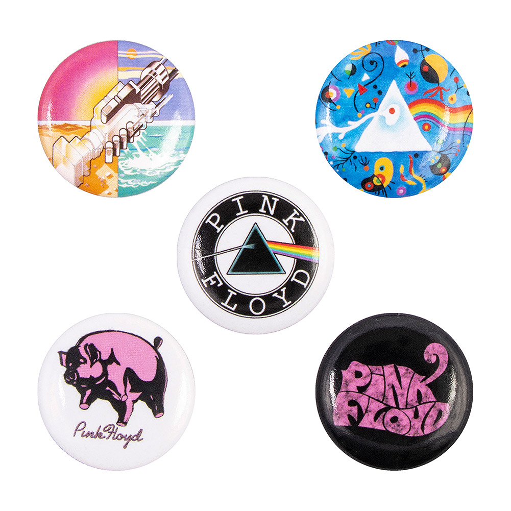 Offizielle Pink Floyd Prism Pin Badge Packung (5 Stück)
