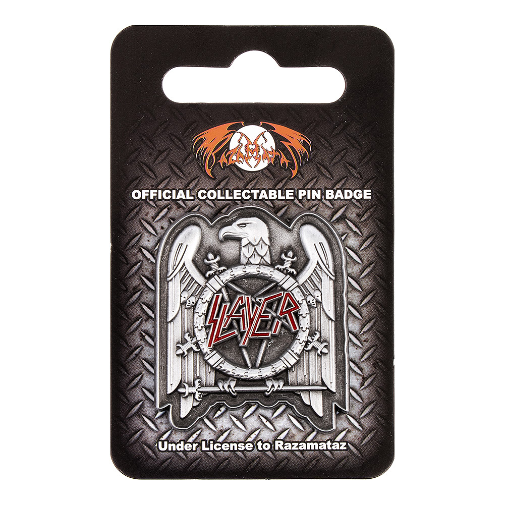 Official Slayer Eagle Pin Badge (Silver/Red)