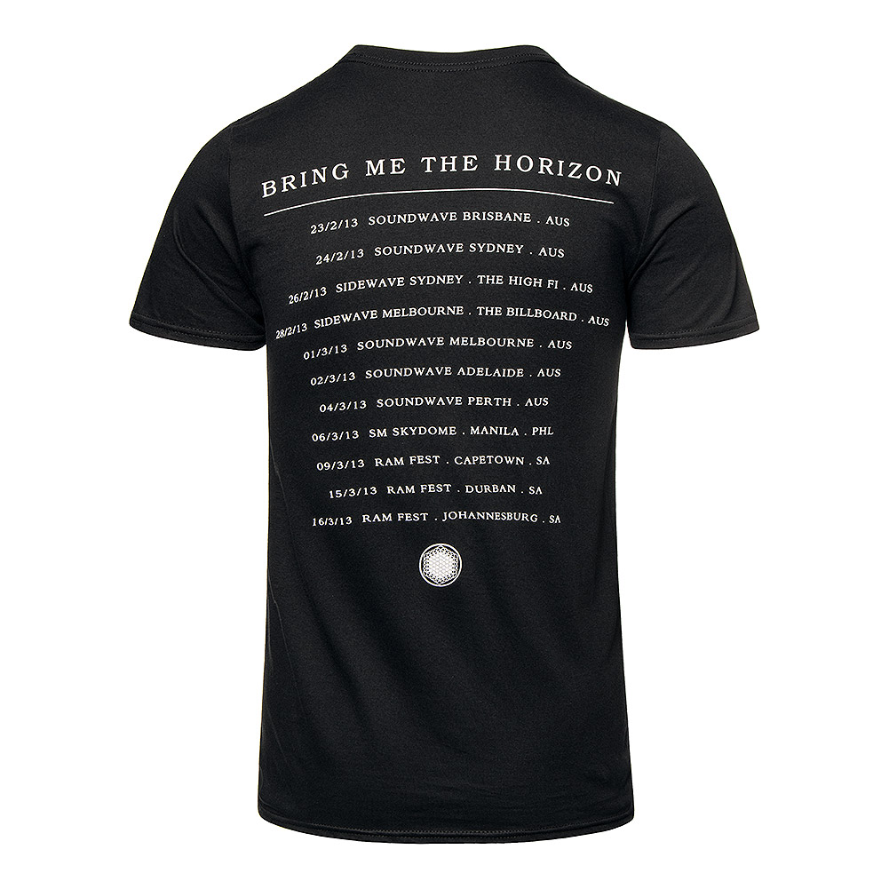 Bring Me The Horizon T-Shirt Imprimé Officiel Sempiternal Tour (Noir)