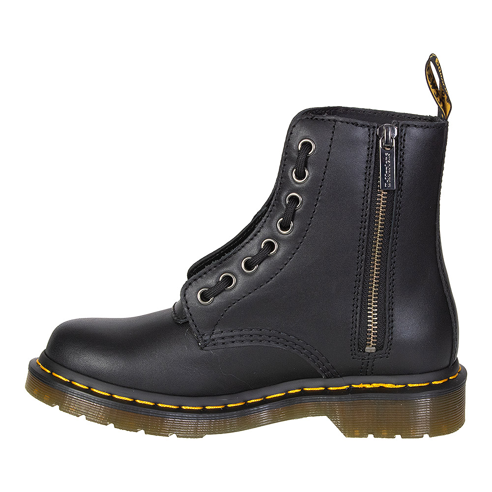 Dr Martens 1460 Pascal Nappa Front Zip Boots (Black)