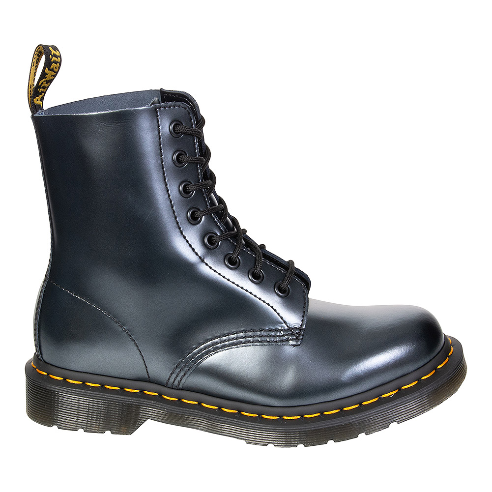 Dr Martens 1460 Pascal Chroma Boots (Silver/Black)