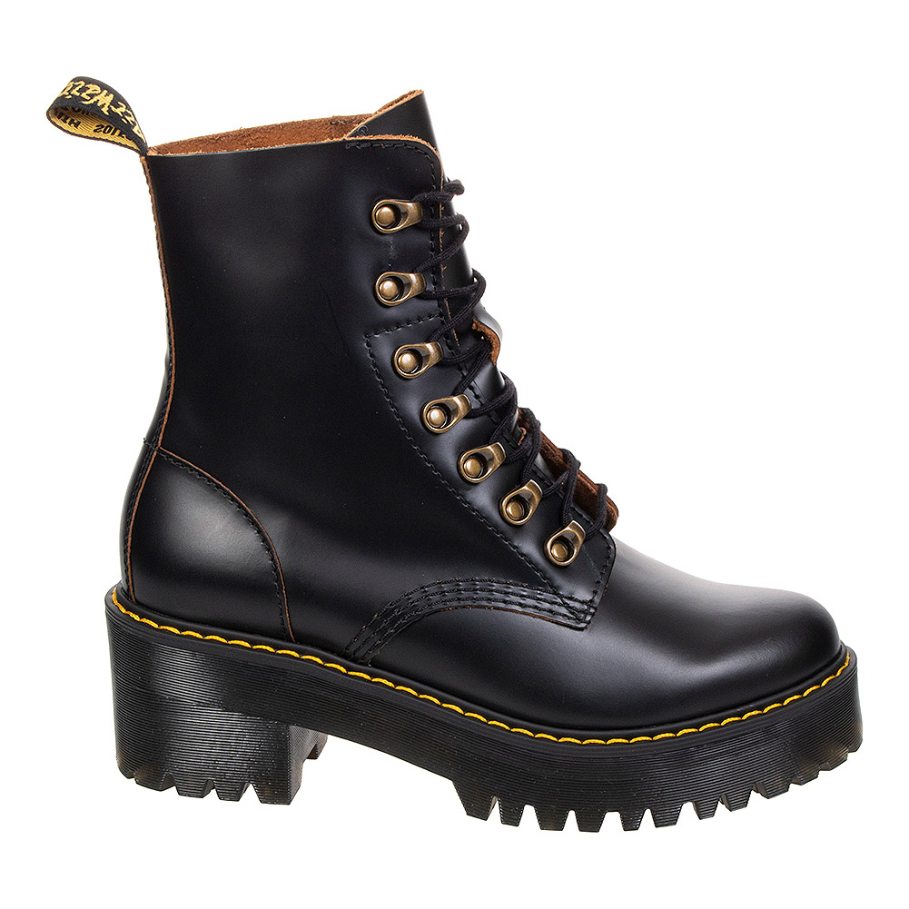 Dr Martens Leona Smooth Boots (Black)