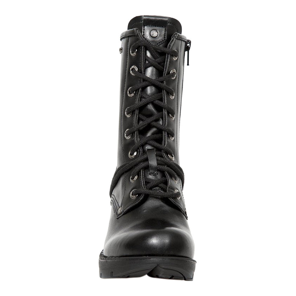 New Rock M-TR001-VS56 Vegan Heeled Boots (Black)