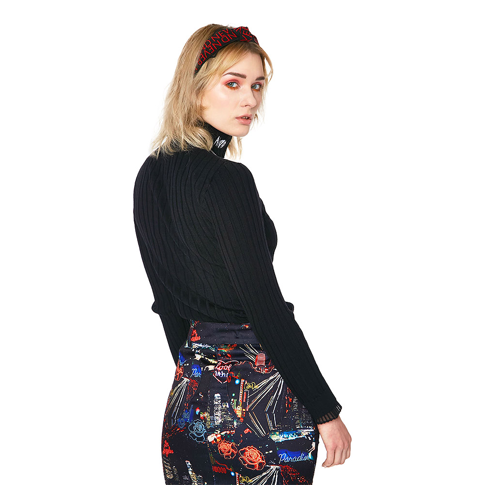 Jawbreaker Avoid Turtle Neck Sweater (Black)