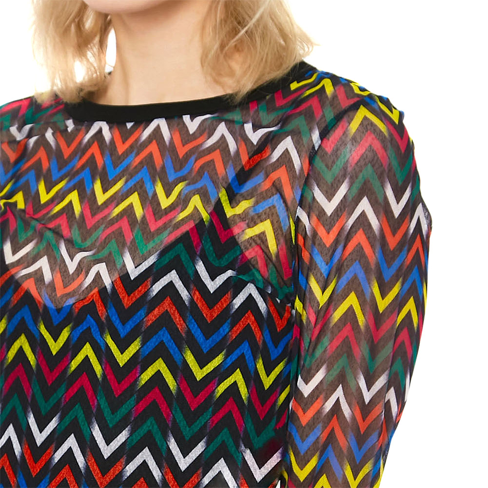Jawbreaker Mix Tape Mesh Top (Multicoloured)