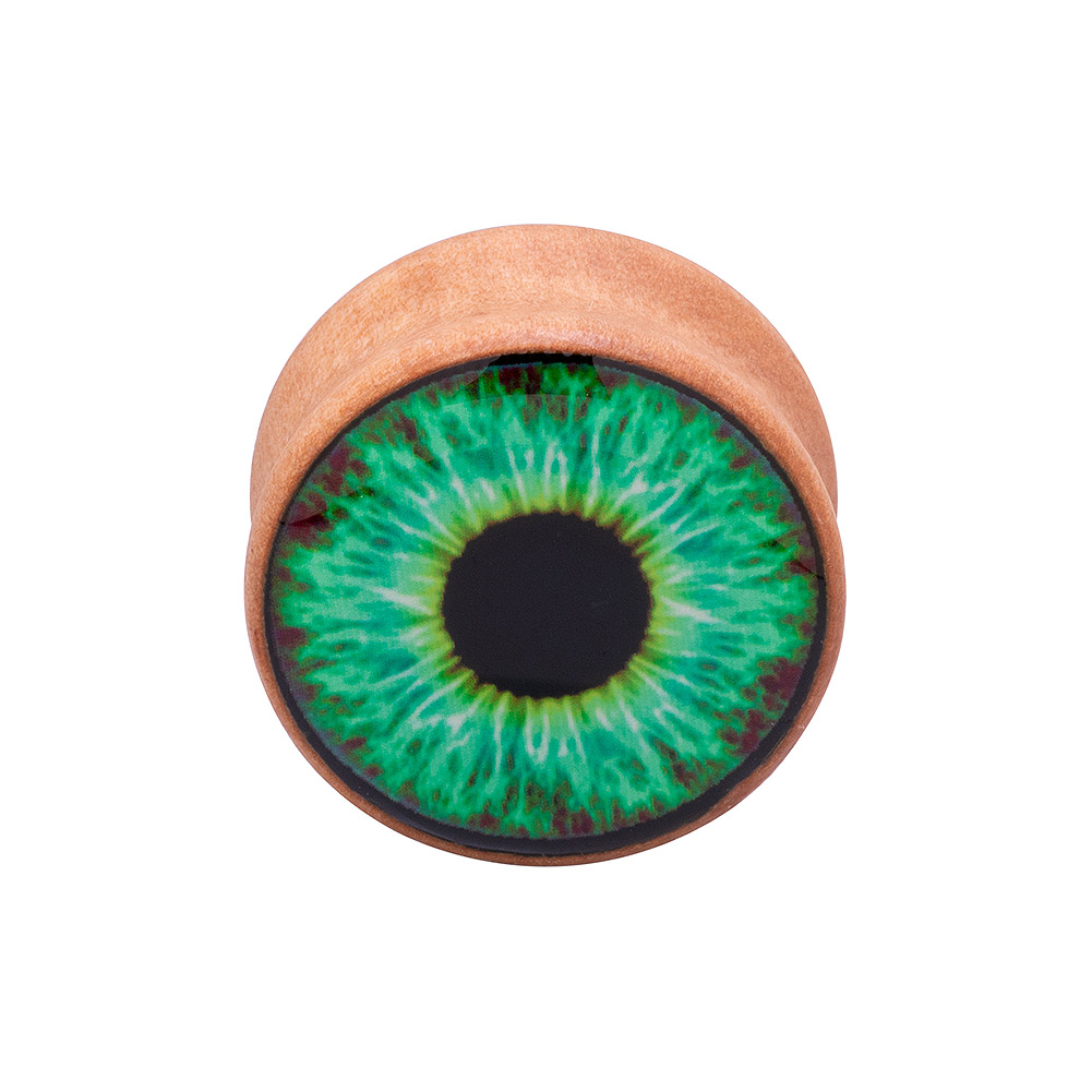 Blue Banana Eye Wood Tunnel 8-25mm (Green)